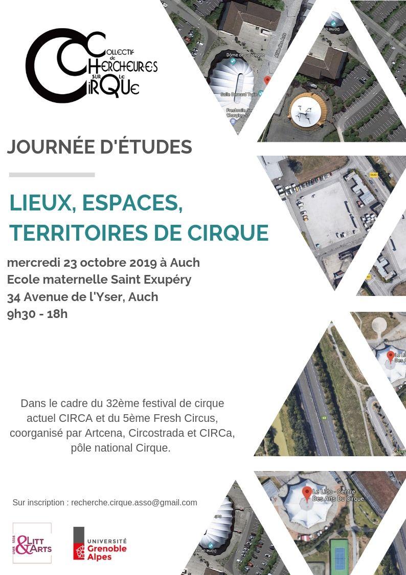 Journée d'études Lieux, espaces, territoires de cirque
